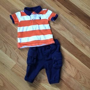 Ralph Lauren baby boy polo outfit